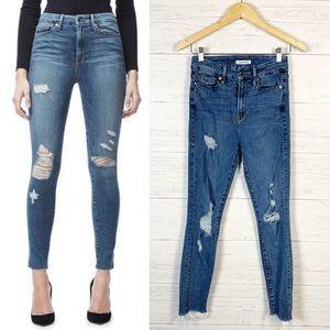Good American • Good Waist Distressed Skinny Jeans
